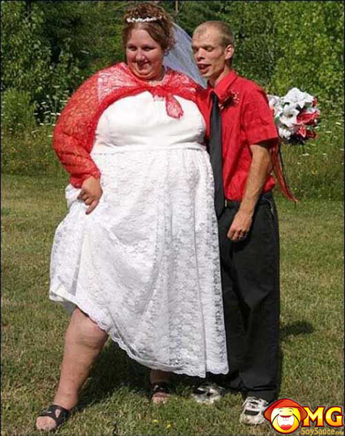 Ugly Wedding Couple Congratulations to Wad...